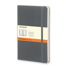 Moleskine Classic Notebook Notes w linie grey hard L, MOQP060A1