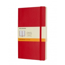 Moleskine Classic Notebook Notes w linie soft red L, MOQP616F2 notesy