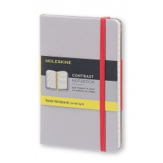 Moleskine Contrast Notebook Notes w linie hard aster grey S, MOLCCTMM710G8