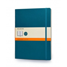 Moleskine Notes XL w linie notebook soft morski
