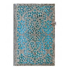 Notes w linie Silver Filigree Maya Blue Mini Classic Paperblanks
