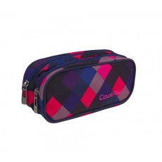 Piórnik saszetka 2 komory CoolPack Clever A524 Electric Pink Patio 82294CP