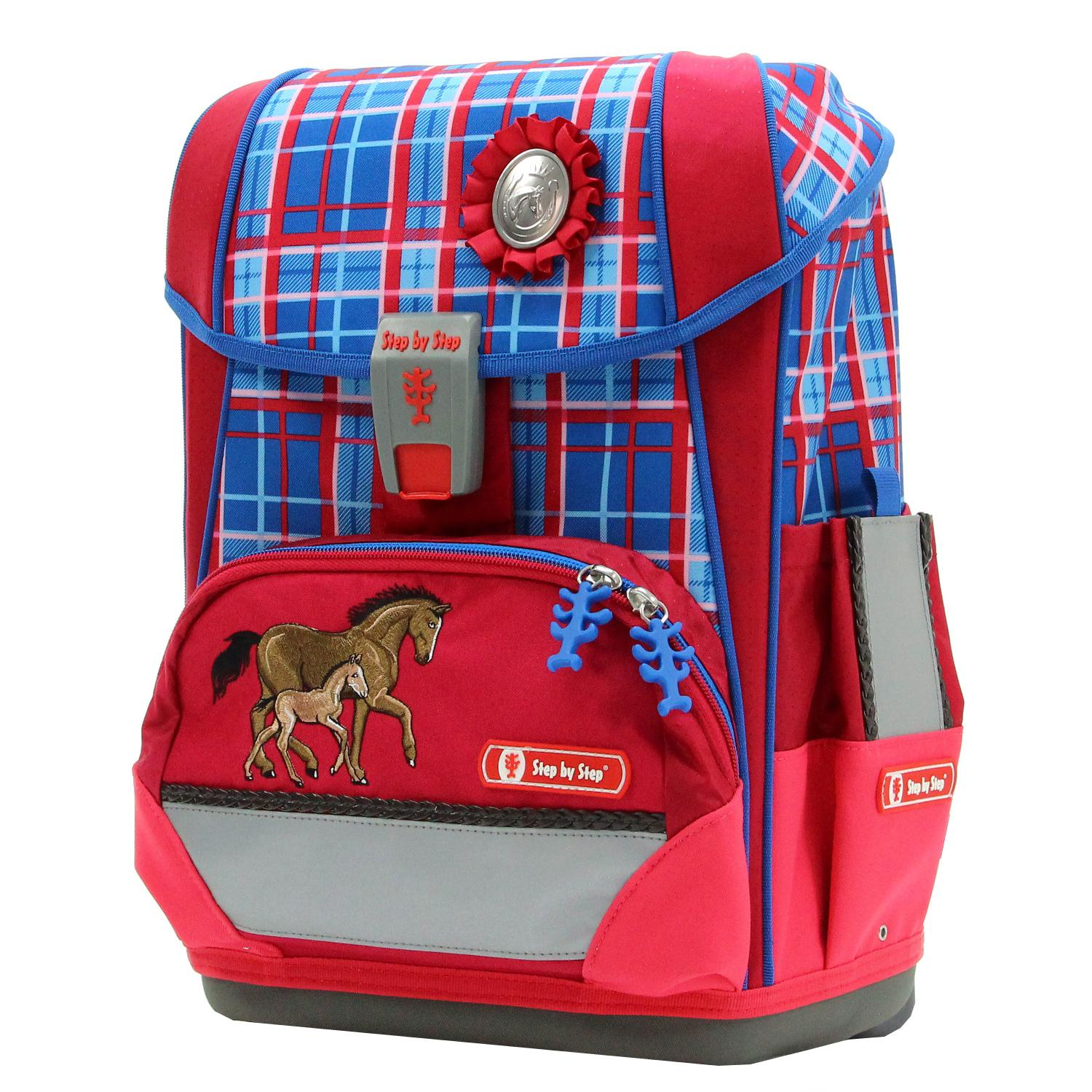 Tornister Step By Step Light II Set 4 cz. Horse Family Hama 138504