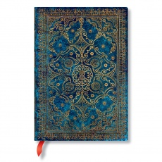 Paperblanks® Luxury a la Fanfare Azure Notes w linie midi